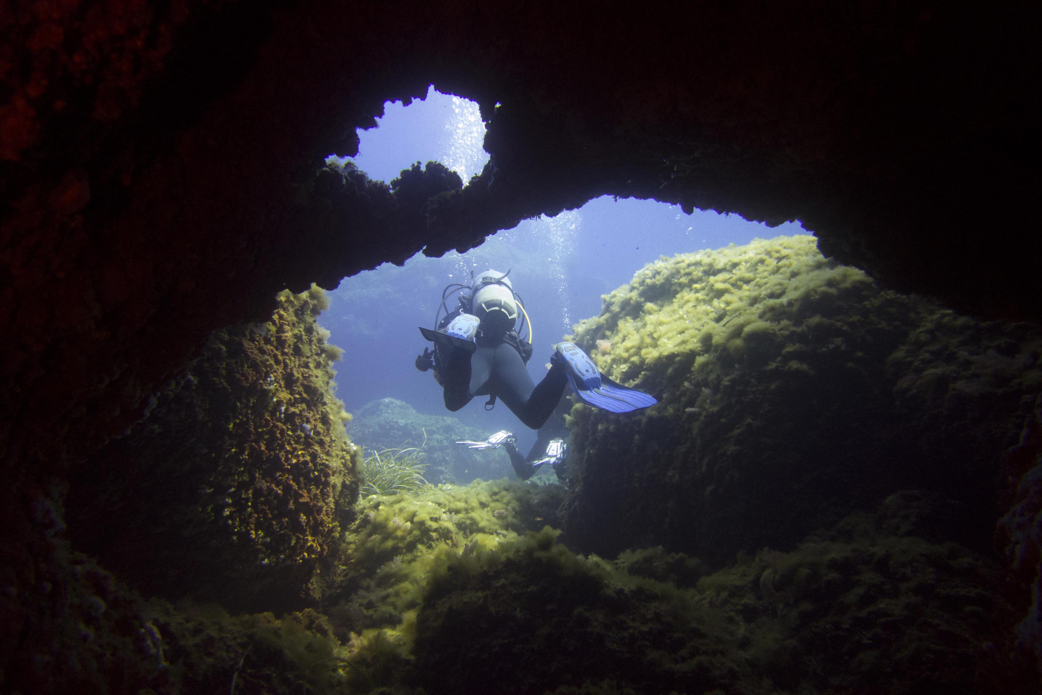 inmersión en Es Carglo, Menorca. Diving in Es Cargol, Menorca