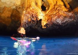 buceos en cuevas en menorca
