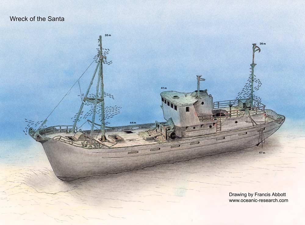 Pecio Santa Clara, Wreck Santa Clara, wreck diving in Menorca, wreck diving, buceo en pecios