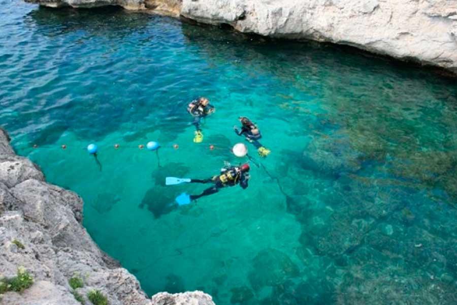 Practicas PADI, Menorca. Practices PADI, Menorca.