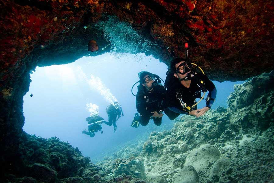 inmersiones en Menorca, fun dives in Menorca