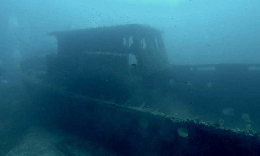 barco hundido Menorca, Sunken ship in Menorca