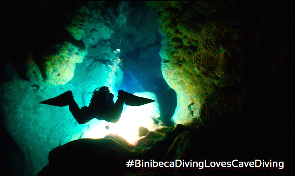 buceo en cuevas de Menorca, cave diving in Menorca