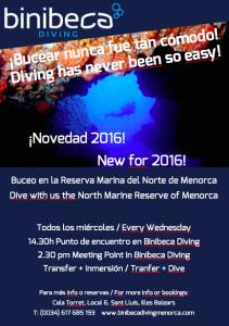 Bucear en Menorca: reserva norte