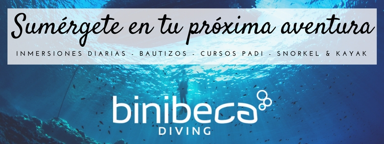 Binibeca diving, Menorca