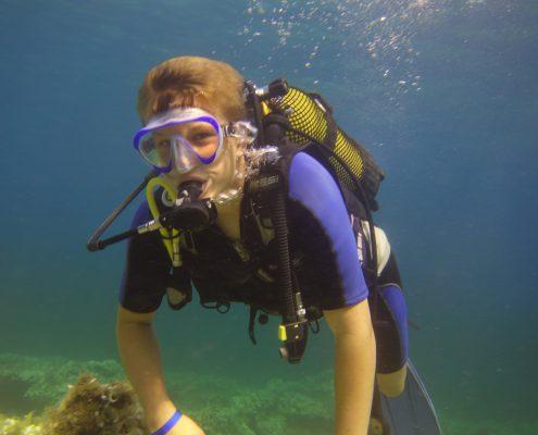 Binibeca buceo, bautizo de buceo en Menorca