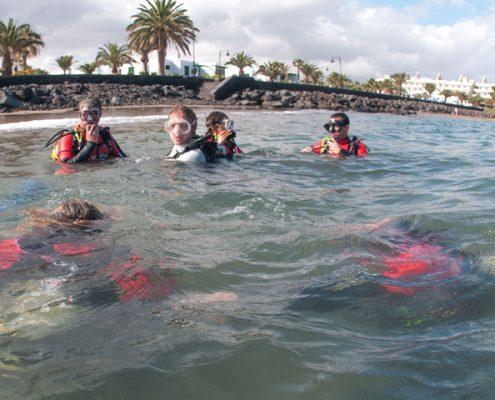 prácticas PADI en Menorca